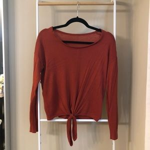 Madewell Sweaters - Madewell Rust Knit Sweater with Front Tie